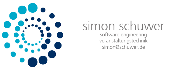 Simon Schuwer, software engineering & veranstaltungstechnik